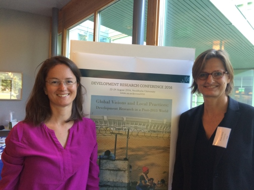 "Magdalena Bexell and Kristina Jönsson organized a panel on ""The Sustainable Development Goals: from global to local governance"" at the conference Global Visions and Local Practices: Development Research in a Post-2015 World."