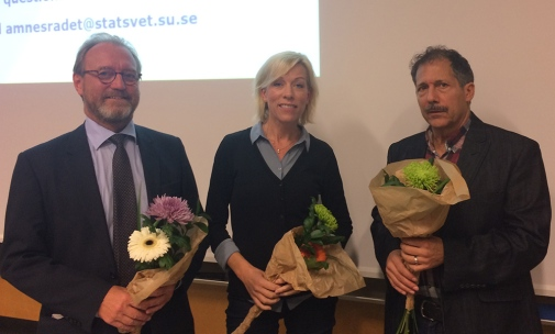 Mats Karlsson, The Swedish Institute of International Affairs, Ginna Lindberg, Swedish Radio and Merrick Tabor, the Department of Political Science.