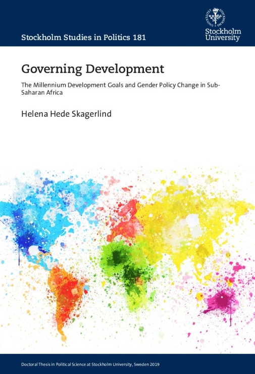 Bild på avhandlingen Governing Development.
