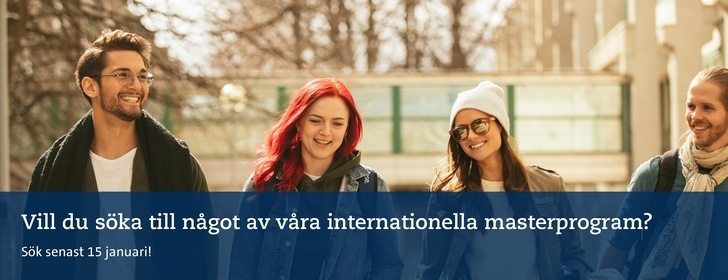 Sök till internationella masterprogram