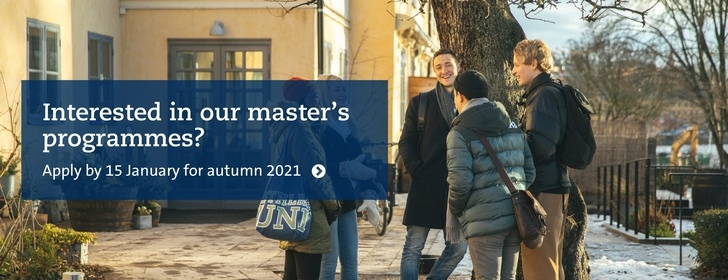 Apply to master's programmes